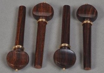 SET PIROLI VIOLINO M.FRANCESE SIMIL-PALISSANDRO ANELLO ORO-SET VIOLIN PEGS FRENCH M. ROSEWOOD TYPE