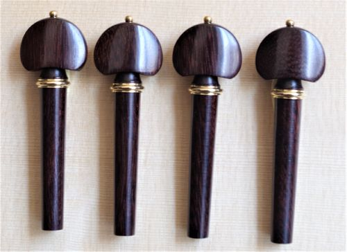 SET PIROLI VIOLINO HILL DARK PALISSANDRO ANELLO ORO-SET VIOLIN PEGS DARK HILL ROSEWOOD GOLD COLLAR