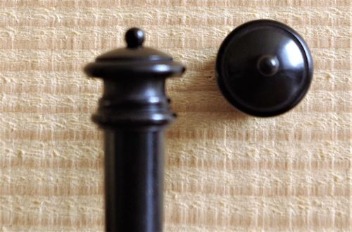 BOTTONE PER VIOLINO EBANO PALLINO EBANO  VIOLIN END BUTTON - EBONY BLACK BALL