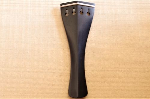 Cordiera violino Mod.Hill ebano filetto bosso - Violin tailpiece Hill Mod. ebony white fret