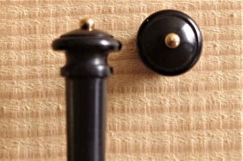 BOTTONE PER VIOLINO EBANO PALLINO ORO - VIOLIN  END BUTTON EBONY GOLD BALL