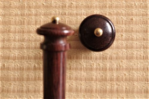 BOTTONE VIOLINO SIMIL PALISSANDRO PALLINO ORO - VIOLIN  END BUTTON ROSEWOOD  GOLD BALL